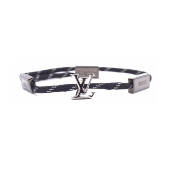 Louis Vuitton Jewelry - Rare Black and White Rope with Silver  Bracelet